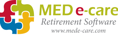 Medecare Logo Full Logo COLOUR retirement software plus website